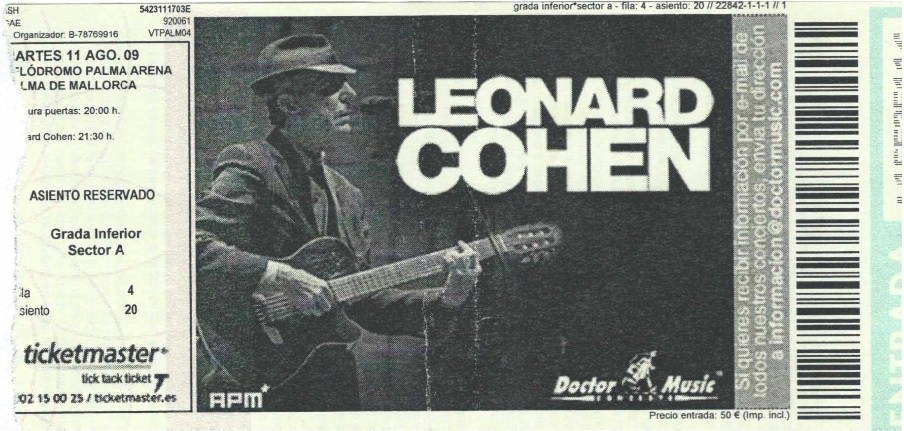 Entrada Leonard Cohen